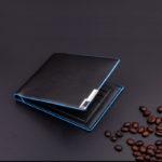 Blue Stitched Bilfold Wallet