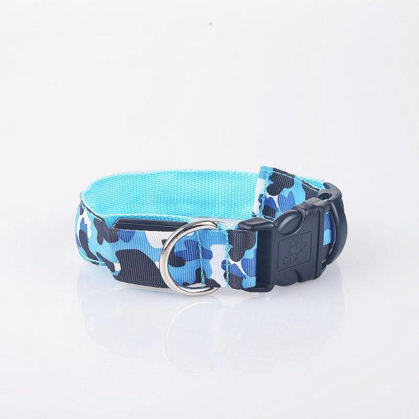 Camouflage LED Dog Safety Adjustable Collar