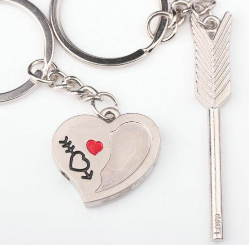 Arrow & Heart Lovers Keychains