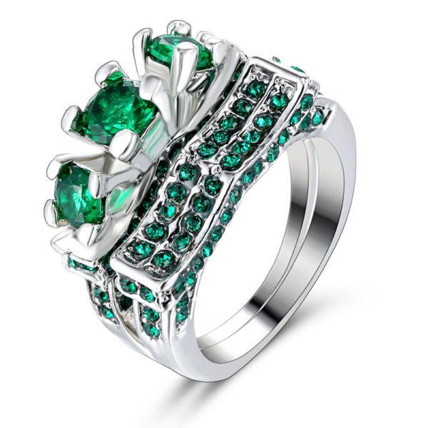 Emerald Ring Pair