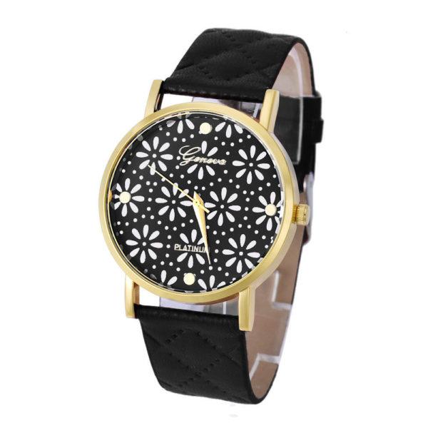 Flower Pattern Wrist Watch