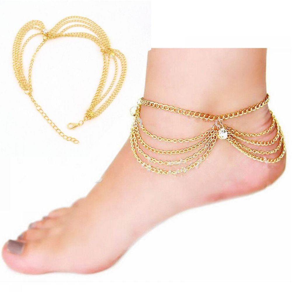 Gold Chain Ankle