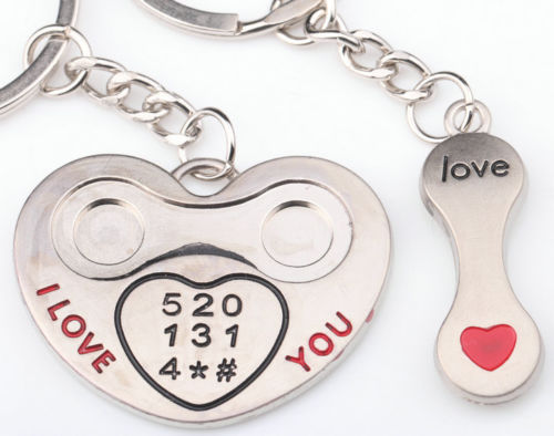 I LOVE YOU Phone Lovers Keychains
