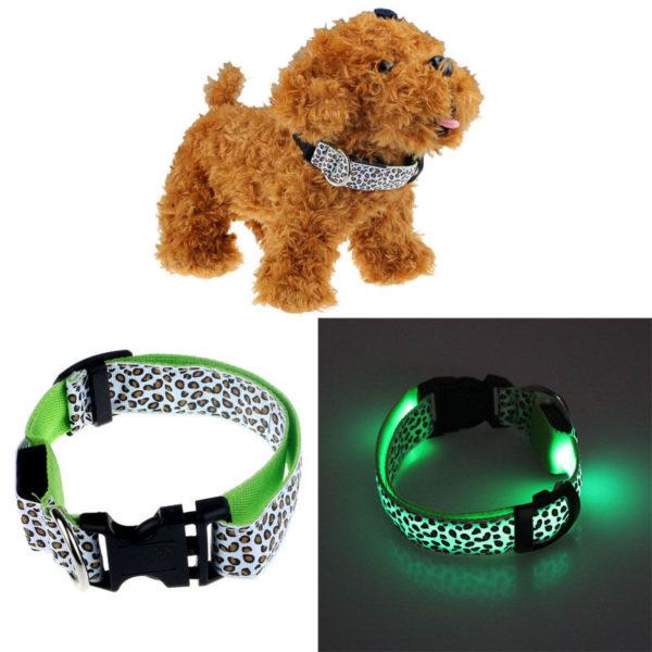 LED Lepord Collar GREEN