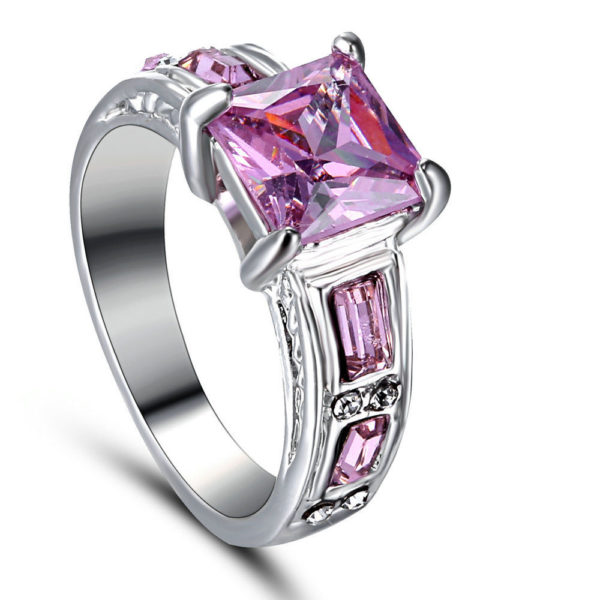 Pink & Silver Ring