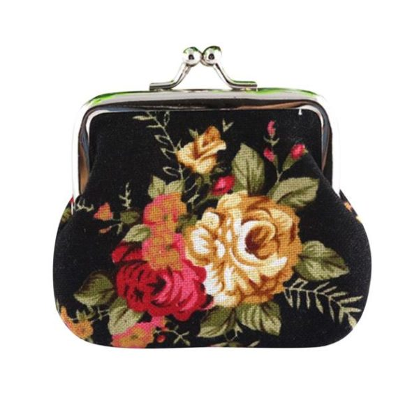 Retro Vintage Floral Coin Purse