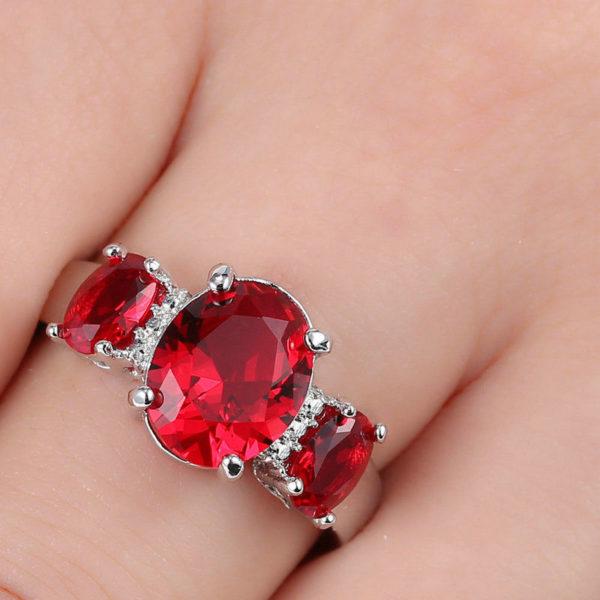 Ruby 3-Stone Ring