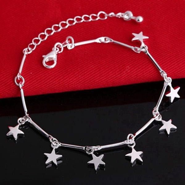 Silver Star Bracelet Anklet