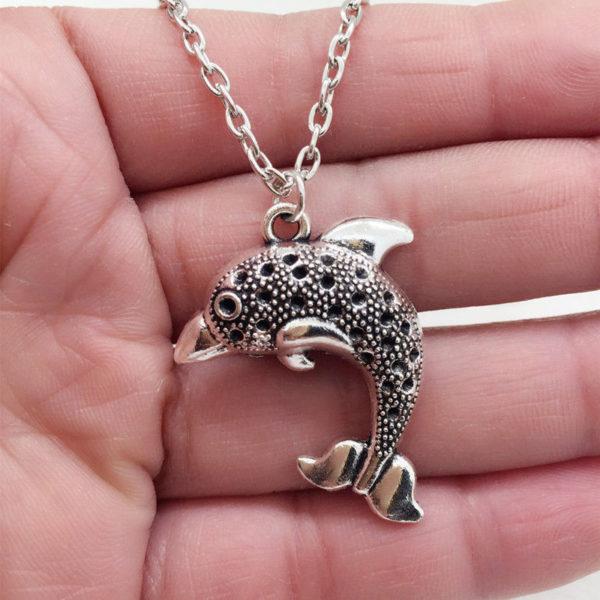 Tibetan Silver Dolphin Pendant