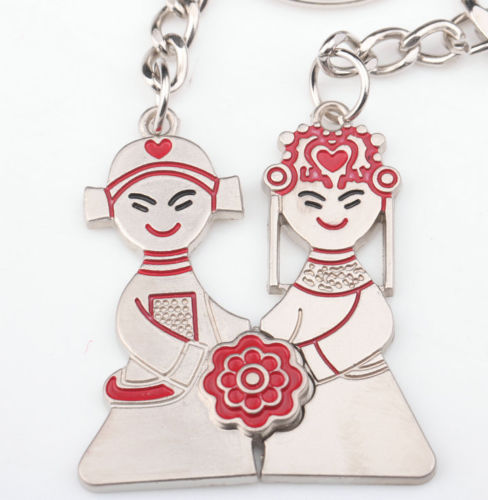 Wedding Roses Lovers Keychains