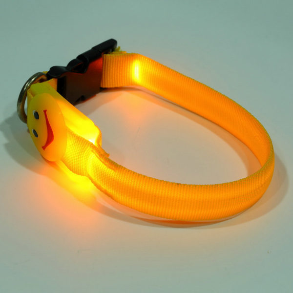 Smiling Face LED Safety Collar